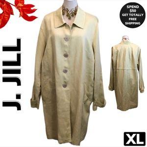 J Jill Linen/Cotton Blend Light Coat (XL)
